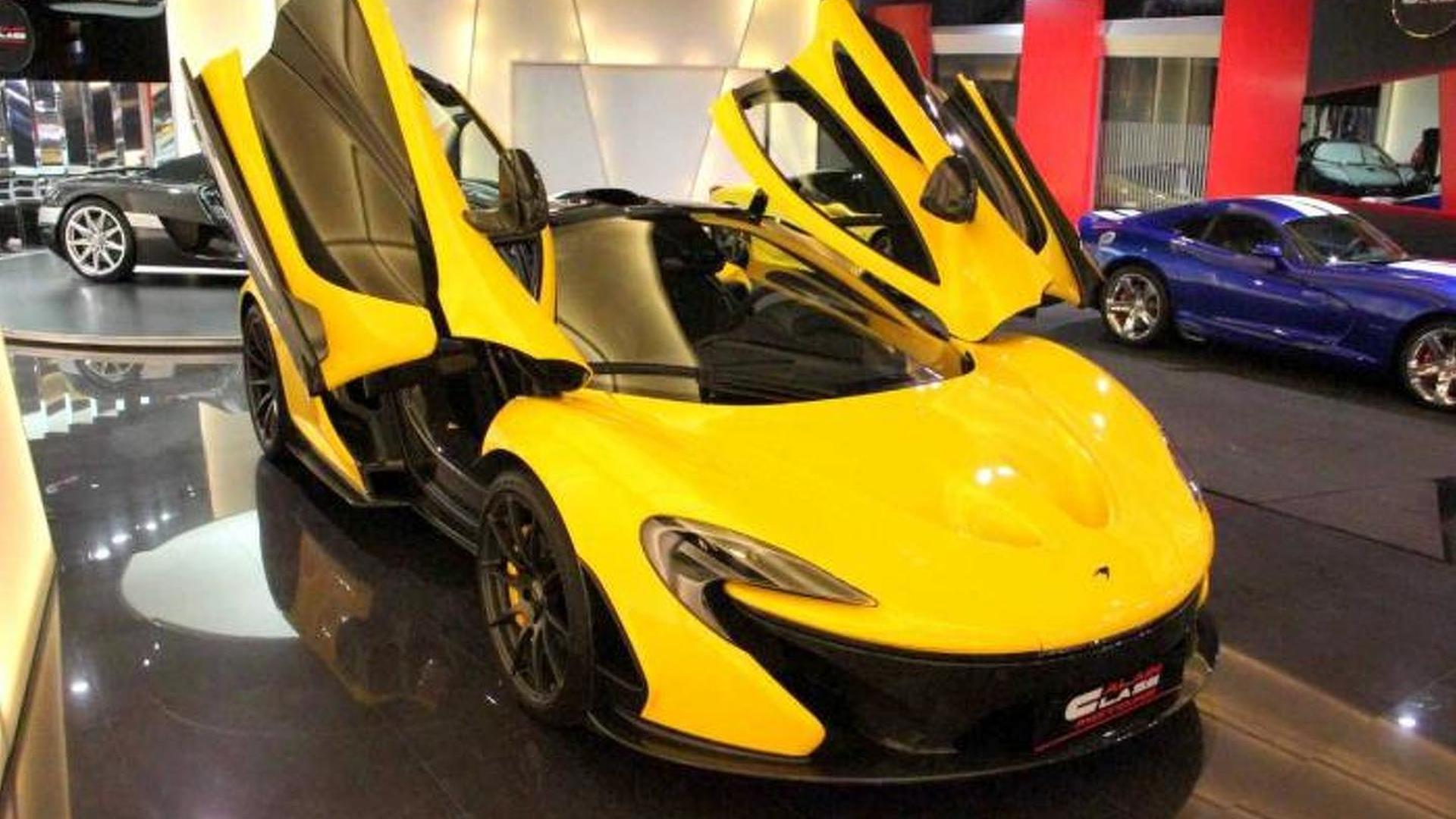 McLaren P1 already on the used car market, available at a Dubai showroom