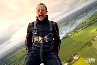 Watch Richard Hammond Hold on for Dear Life on the Wing of a Plane