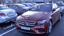 Lots of Mercedes E Class press and presentation cars filmed [videos]
