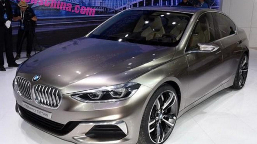 BMW Compact Sedan Concept unveiled, previews the 1-Series Sedan