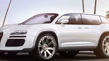 Bugatti SUV imaginatively rendered