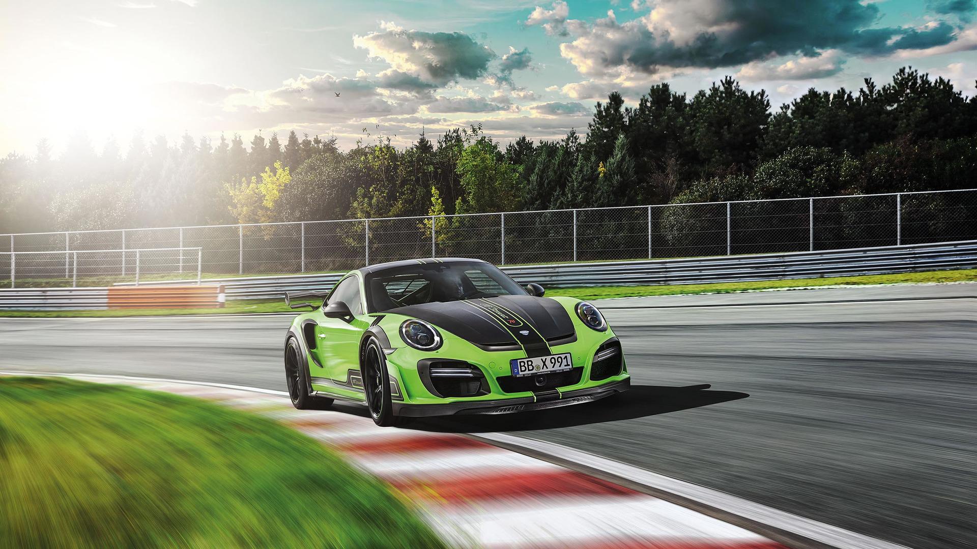 Tuned Porsche 911 Turbo has 711 hp, high-tech exhaust makes it sing