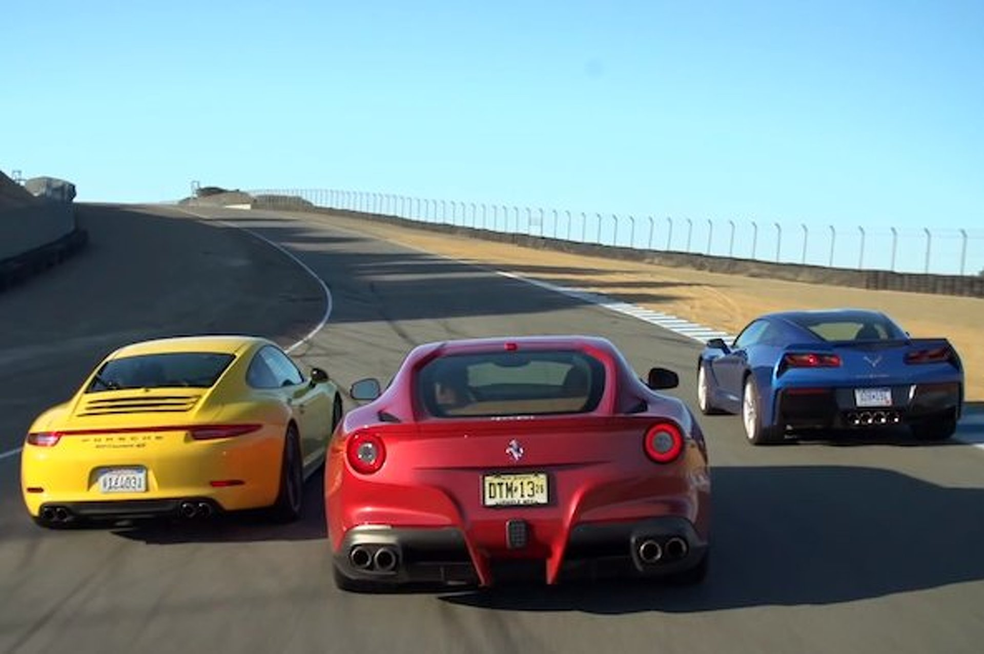 Stingray, 911, F12berlinetta: Head to Head to Head [video]
