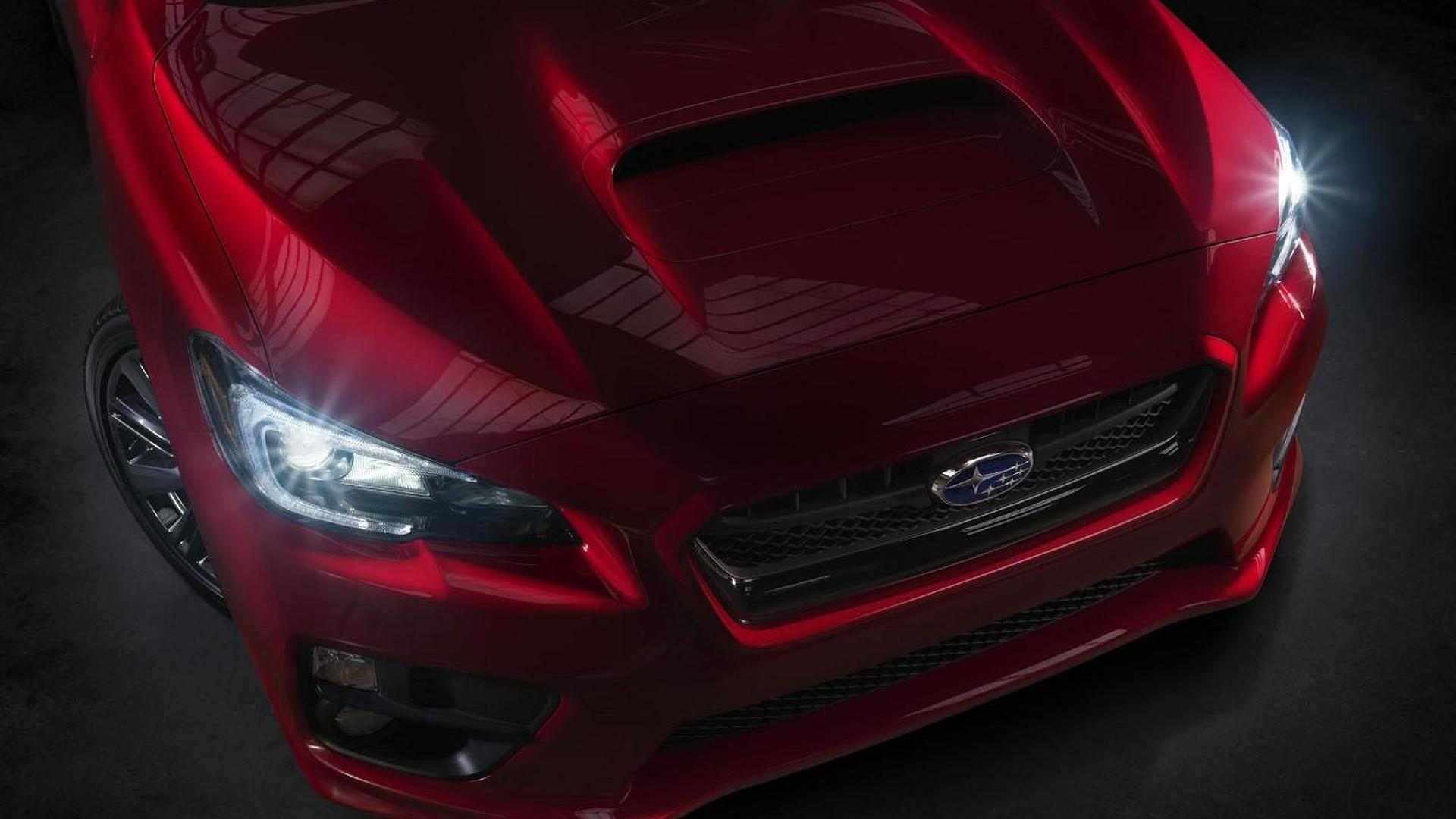 2015 Subaru WRX teased, debuts in Los Angeles