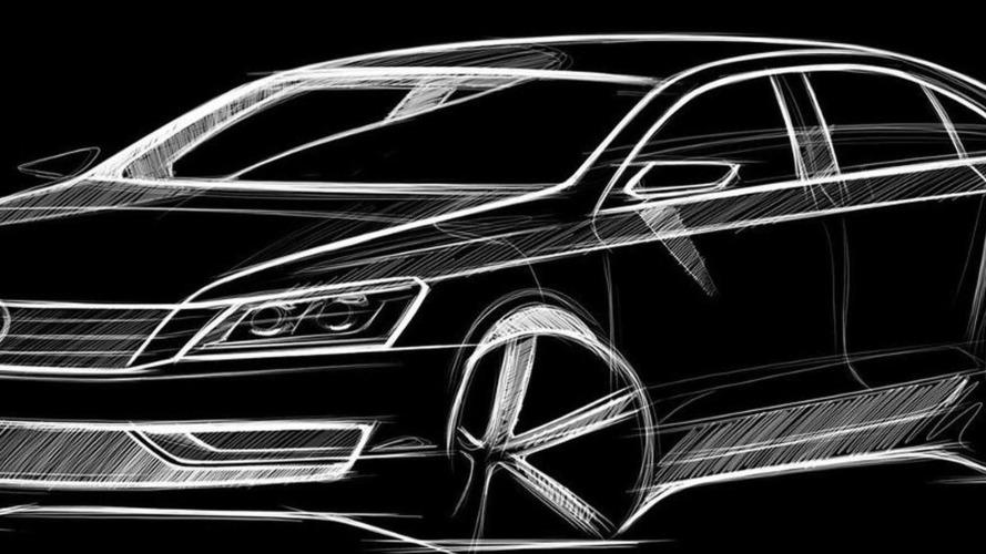 VW Releases Teaser Sketch for New Mid-Size Sedan aka NMS