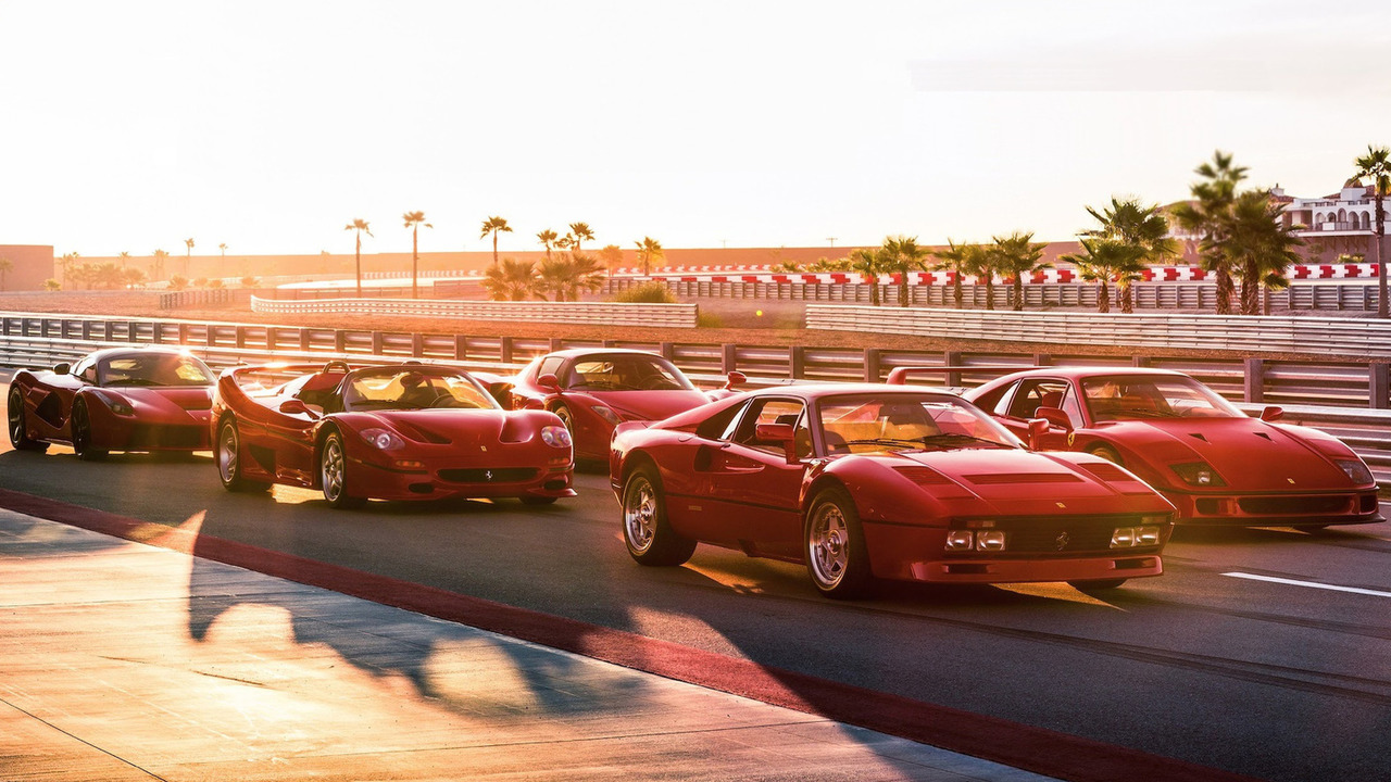 Ferrari supercars on track