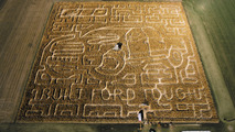 Ford shows off an F-150 inspired corn maze [video]