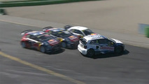 Watch this amazing rallycross first corner overtake for the lead