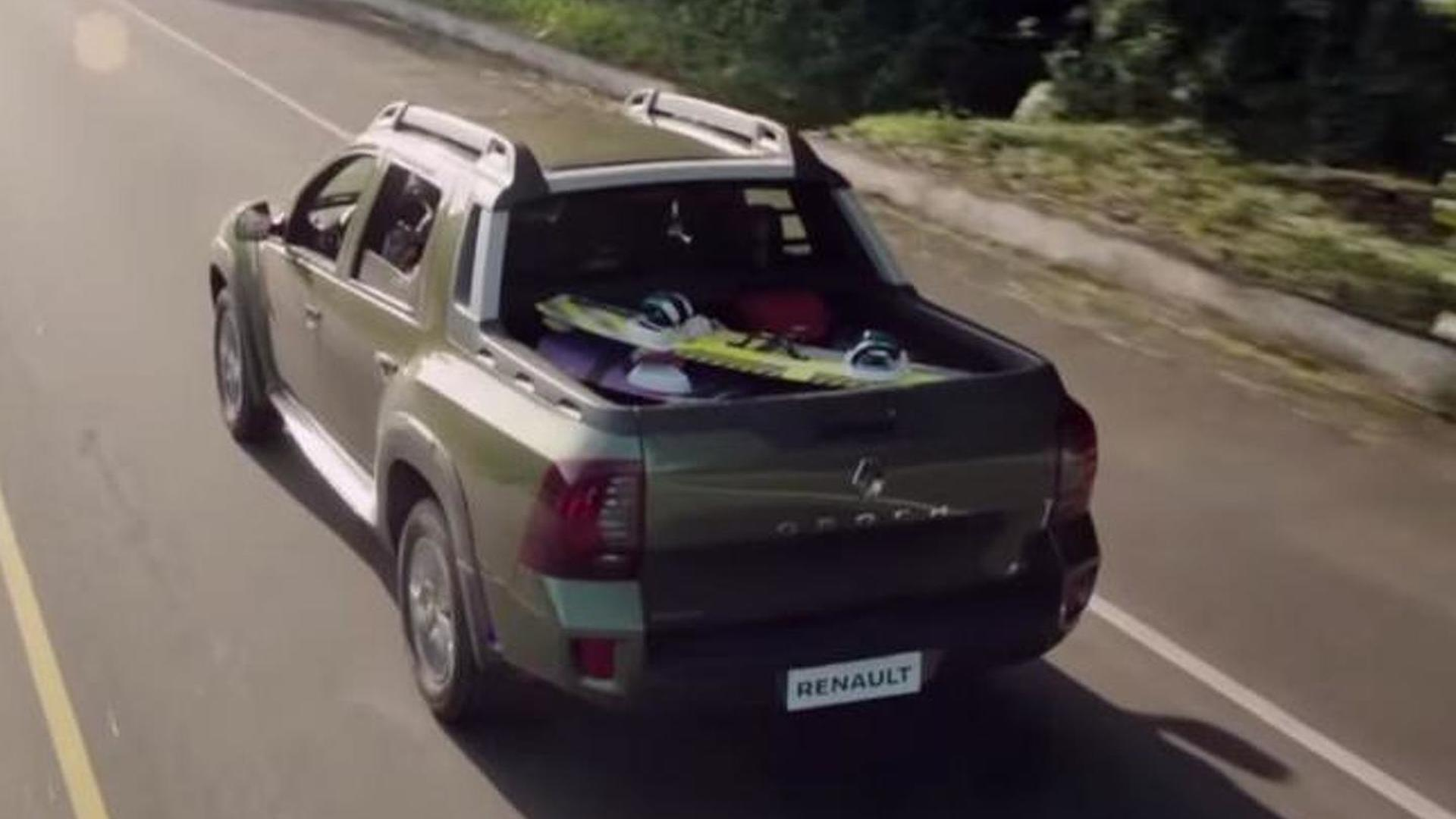 renault duster oroch production version stars in first promo clip. Black Bedroom Furniture Sets. Home Design Ideas