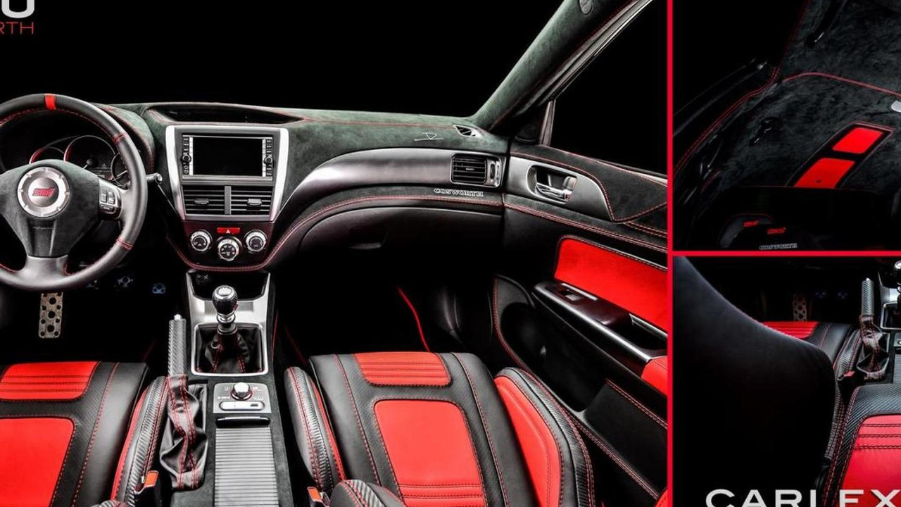 Subaru Cosworth Impreza STI CS400 interior customized by Carlex Design Europe