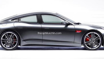 Jaguar F-Type rendered as a stylish four-door coupe