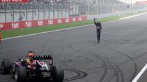 FIA 'crazy' to penalise Vettel donuts - Hamilton