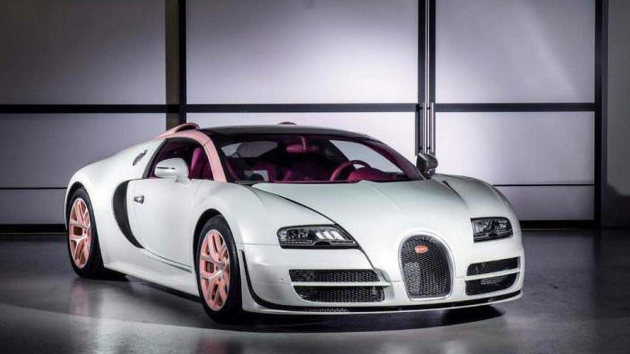 Bugatti Veyron Grand Sport Vitesse Cristal Edition was another one-off model, dressed in pink