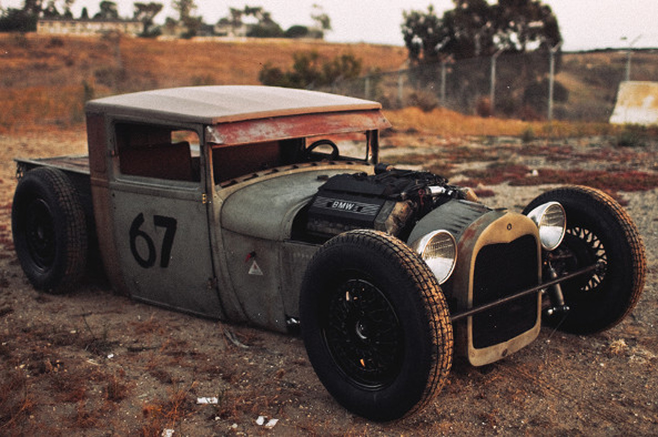 Man Builds BMW-Powered Rat Rod [video]