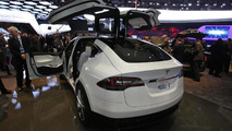 Revised Tesla Model X live in Detroit