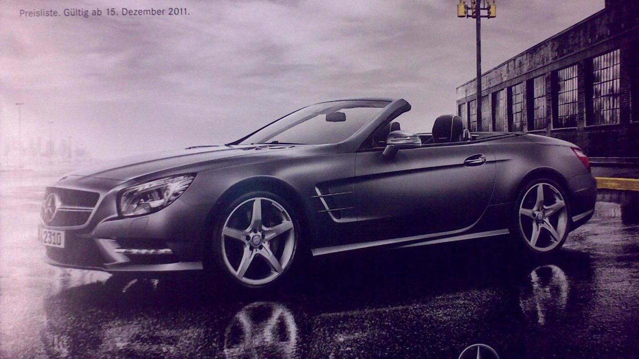 2013 Mercedes SL-class leaked brochure scan