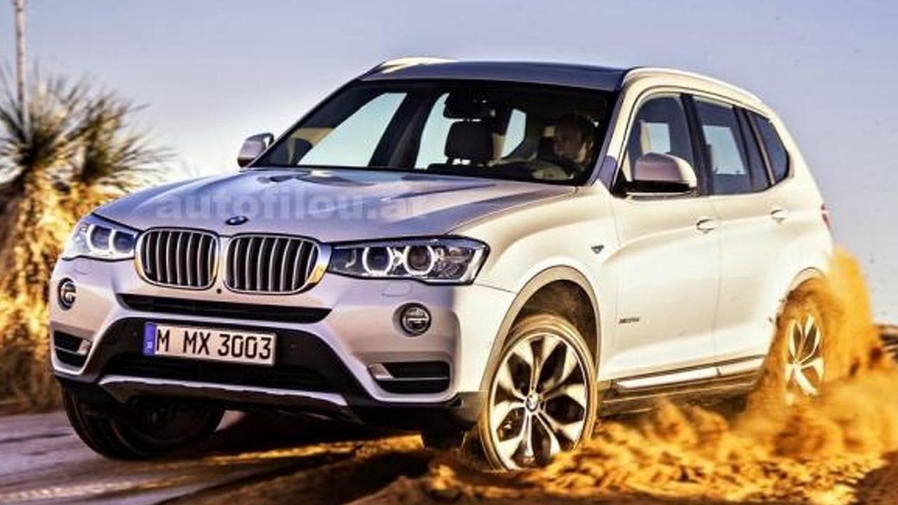 2014 BMW X3 facelift leaked photo