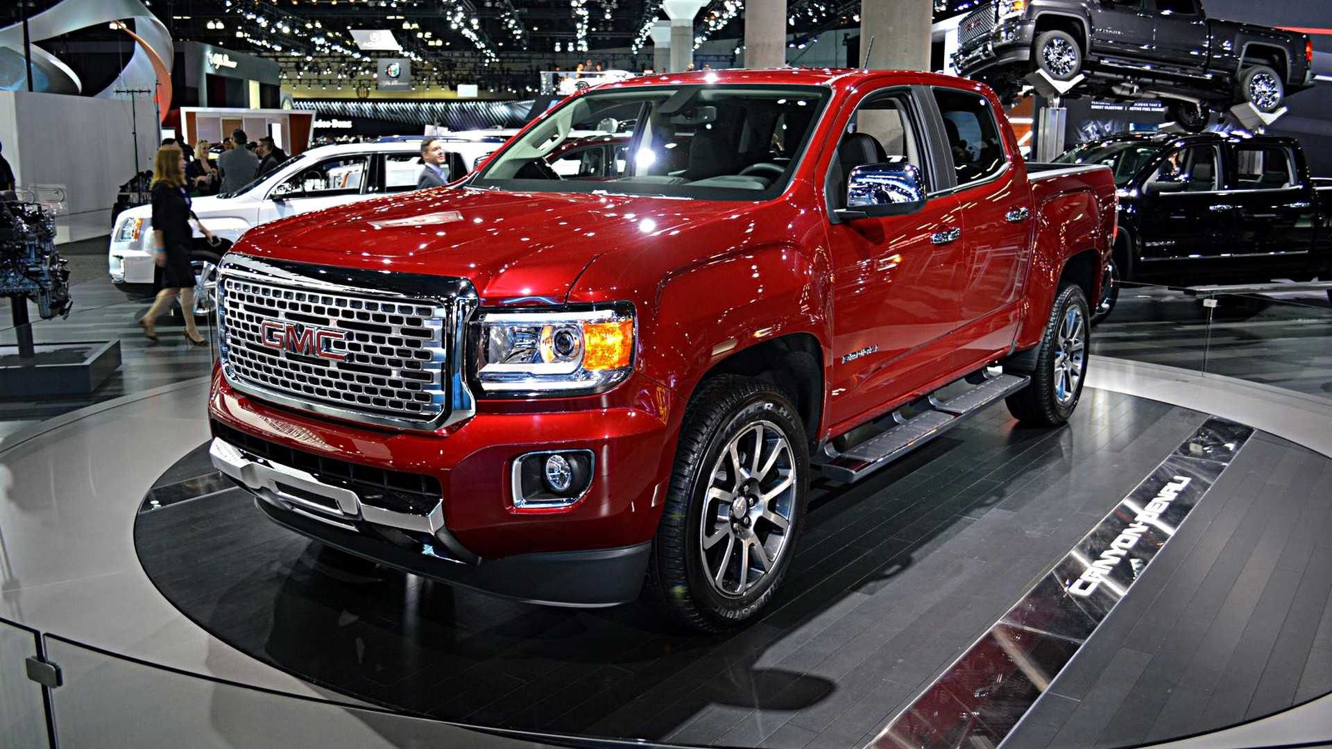 2017 gmc canyon denali unveiled as the first premium mid. Black Bedroom Furniture Sets. Home Design Ideas