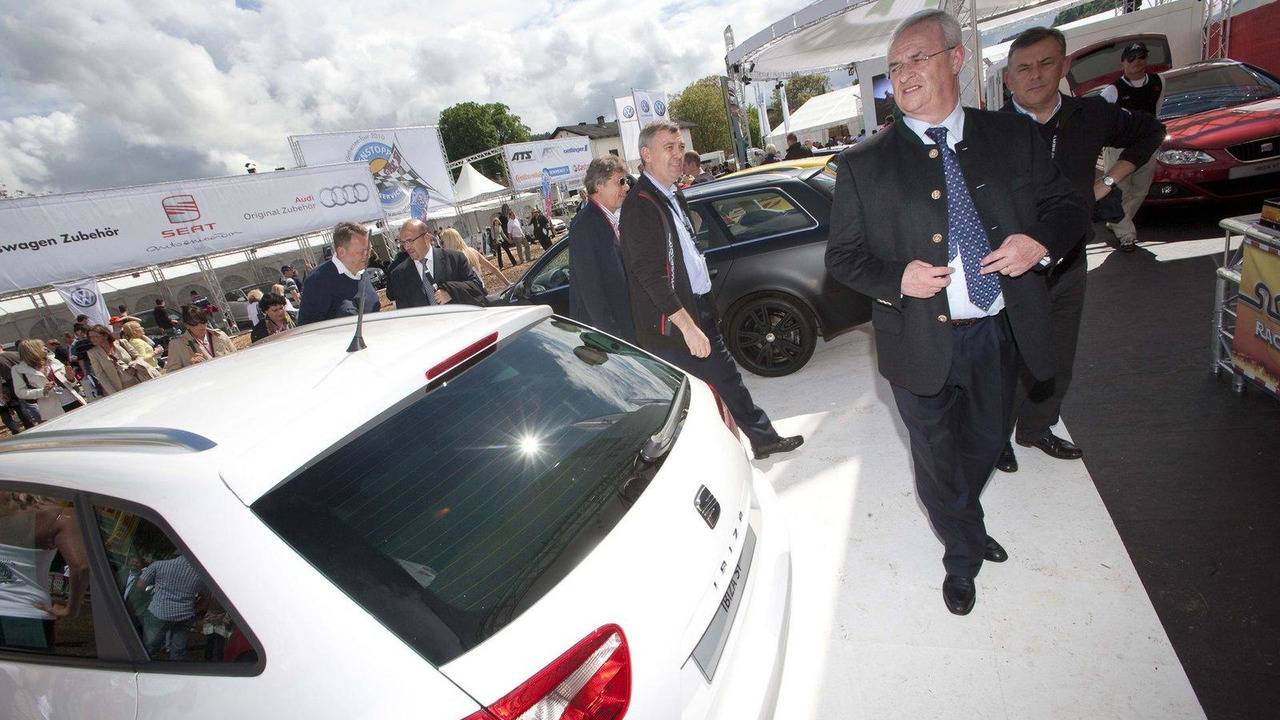 Seat Ibiza ST Bocanegra with Martin Winterkorn, VW AG CEO, at Worthersee 2010, Austria 19.05.2010