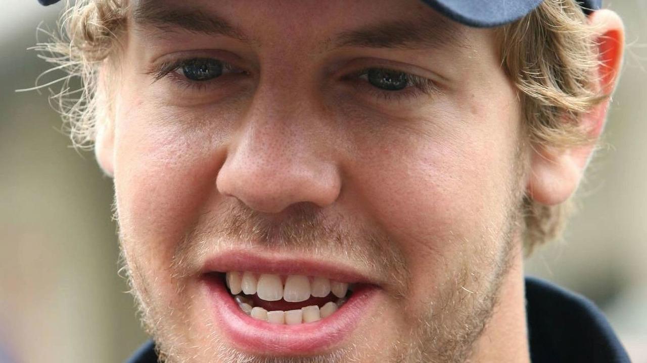 Sebastien Vettel sporting a scruffy looking beard