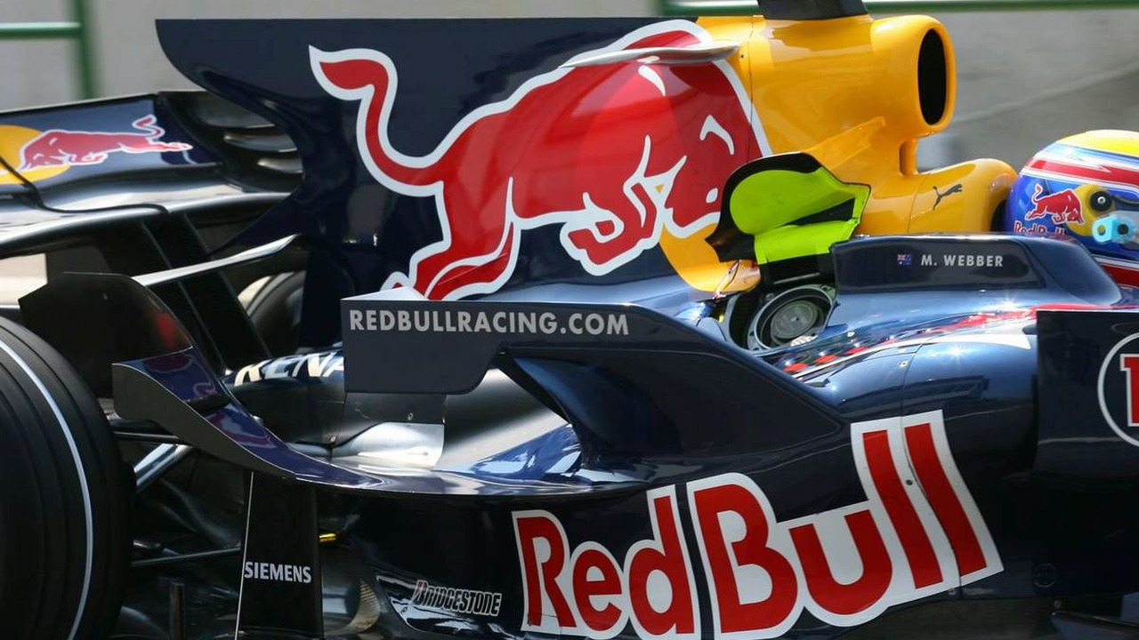 Engine Cover fin feature, Red Bull Racing, Hungarian Grand Prix, Saturday Practice, Budapest, Hungary, 02.08.2008