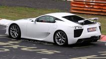 White Lexus LF-A Prototype Testing on Nurburgring