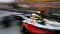 Hamilton takes new chassis to fastest time