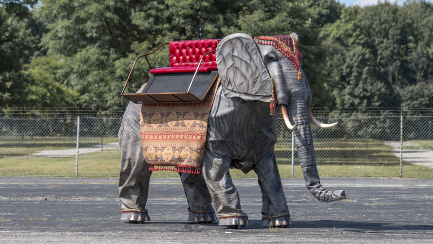 Ford-powered mechanical elephant going up for auction
