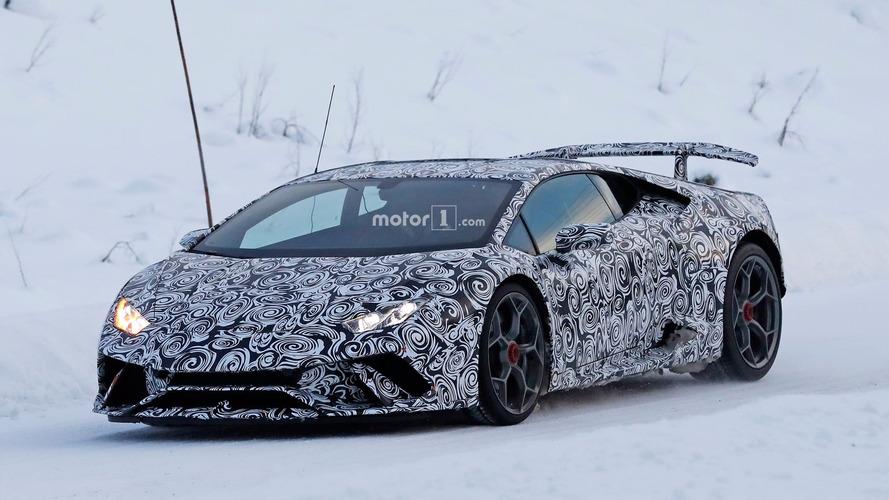 Lamborghini Huracan Superleggera Winter Spy Shots