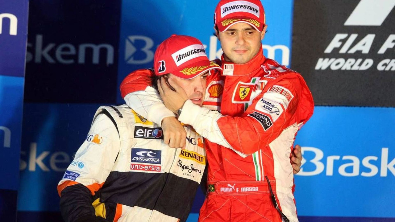 Fernando Alonso (ESP) and Felipe Massa (BRA), Brazilian Grand Prix 02.11.2008