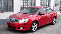 2011 Buick Excelle compact sedan spied completely uncovered