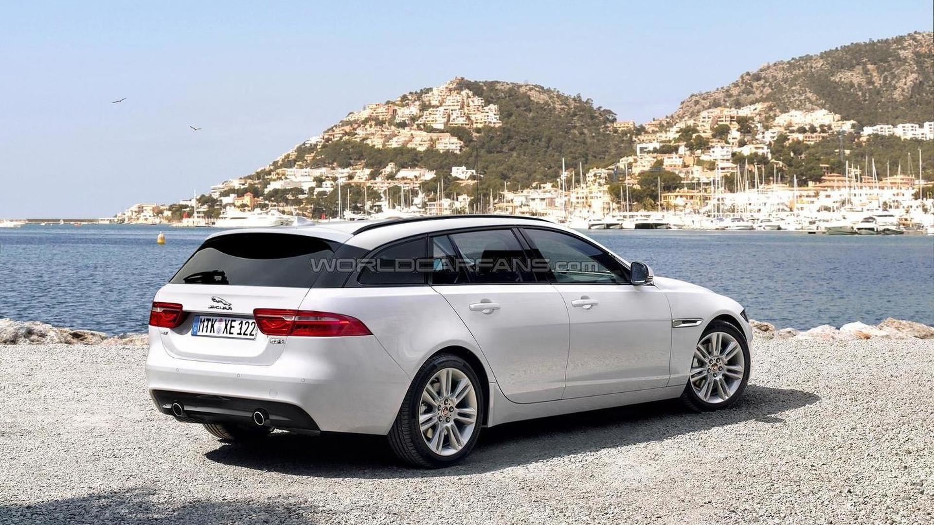 jaguar xe sportbrake rendered ahead of possible launch later this year. Black Bedroom Furniture Sets. Home Design Ideas