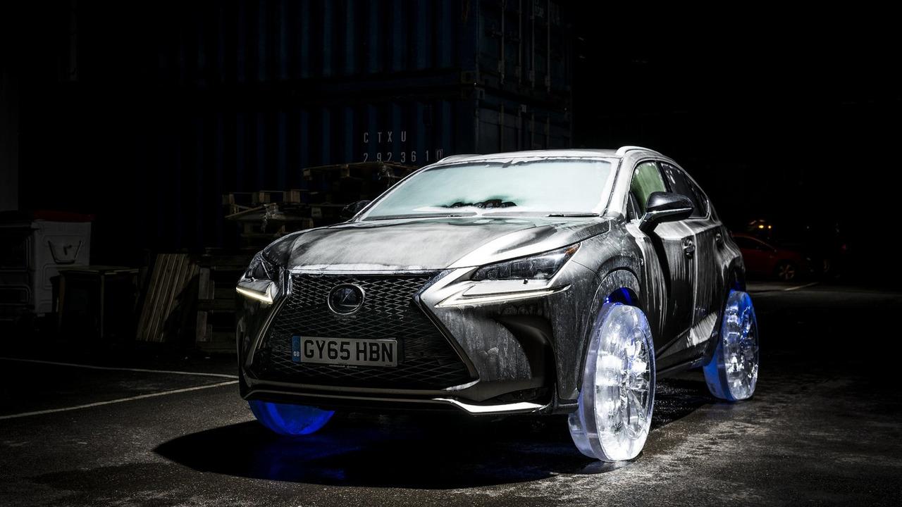 Lexus NX on ice tires