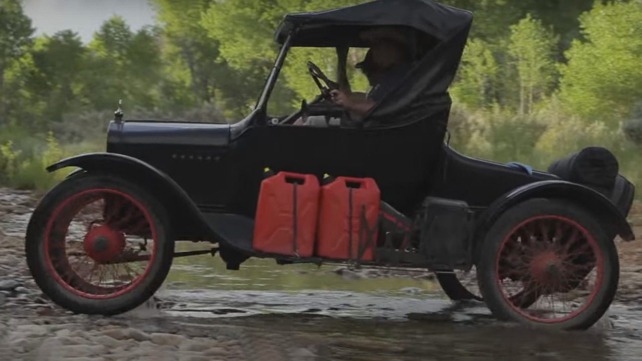 Mid-engine van plus Model T equals great off-road adventure