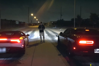 Street Race Between Lamborghini and Hellcat Goes Down in Mexico
