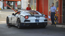 Red and blue Ferrari F12 GTO / Speciale duo spied in Italy