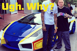 Chris Brown's Hot Wheels Lambo Proves Money Does Not Buy Taste
