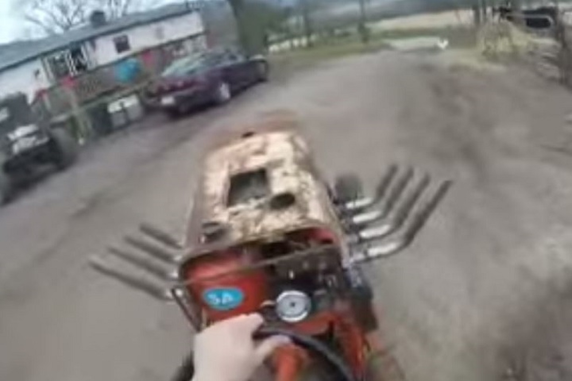 Watch a Big Block Chevrolet Lawn Mower in Action