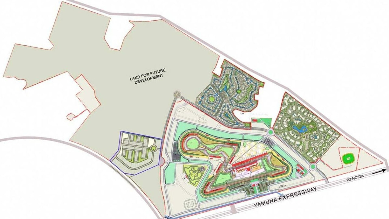 Master plan of Jaypee Group Circuit, Greater Noida, Uttar Pradesh, India, 2011 Formula One racing circuit, Indian grand prix