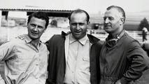Hans Herrmann, Juan Fangio,  Karl Kling
