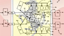 Ferrari Turbo Engine Patent Office Schematics Surface