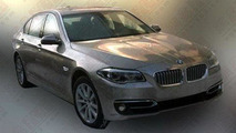 2014 BMW 5-Series facelift spied undisguised