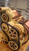 Skoda Fabia engine in cake