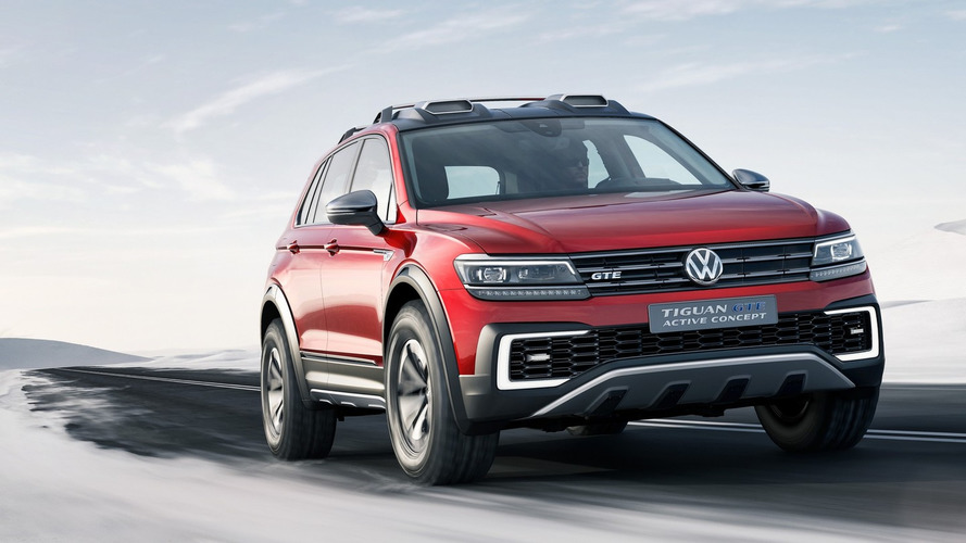 VW Tiguan GTE Active concept plugs into Detroit