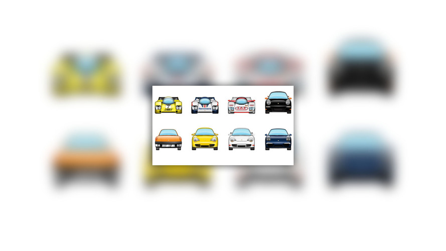 porsche emoji pack  iphone texting   fun