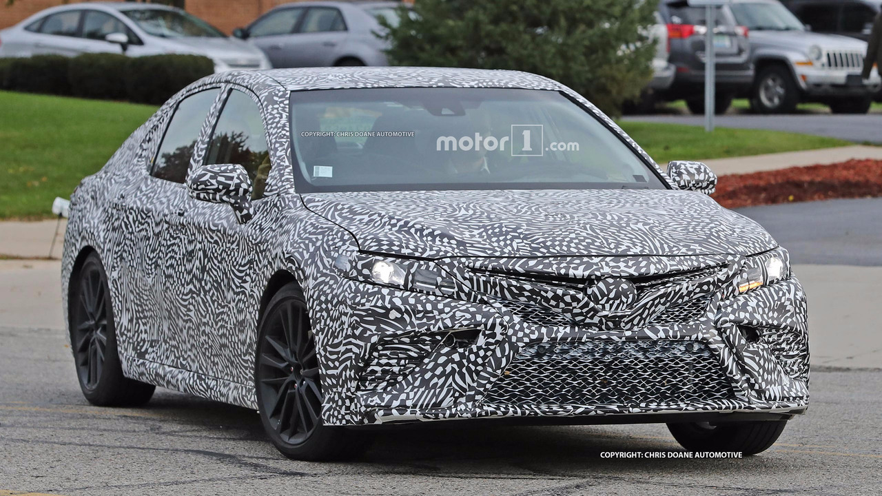 2018 toyota camry spied looking fierce maybe a performance model. Black Bedroom Furniture Sets. Home Design Ideas