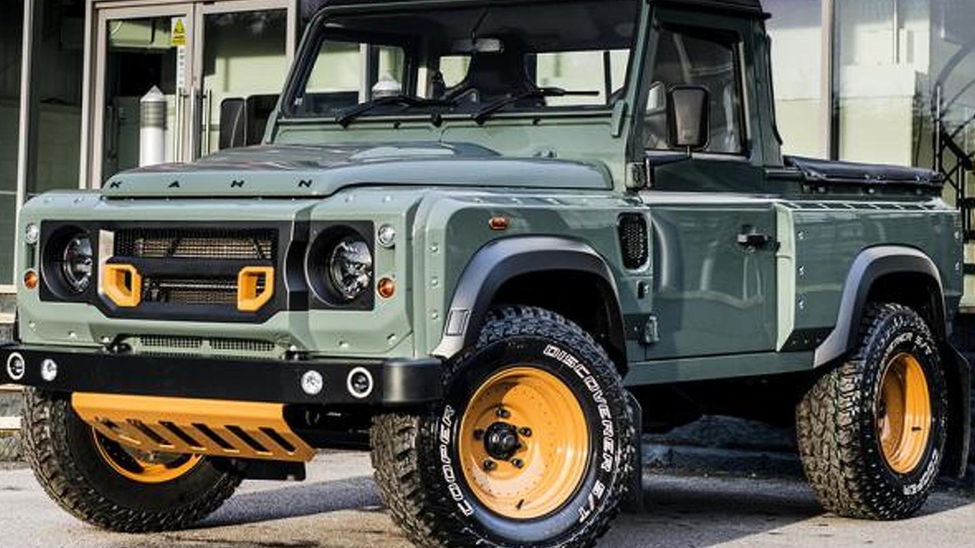 Kahn Design customizes the Land Rover Defender Pick Up
