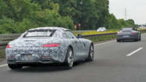 Mercedes-AMG GT Roadster spied on the Autobahn