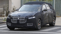 Maserati Levante spied wearing a production body