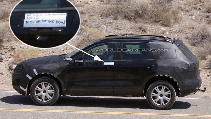 2011 Next Generation VW Touareg hybrid spotted testing in American Southwest